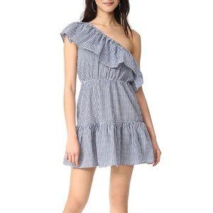 Minkpink wanderer one shoulder gingham dress